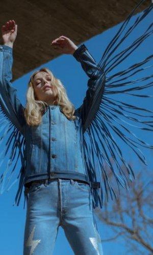 Blue Vintage Fringe Jacket