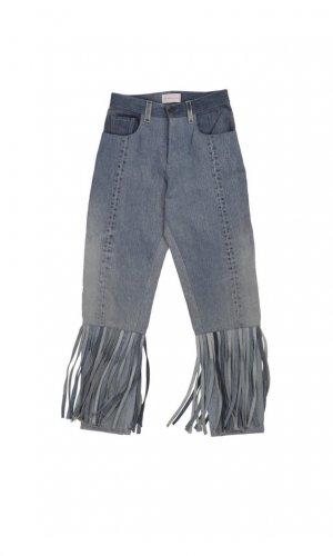 High Waist Fringe Jeans