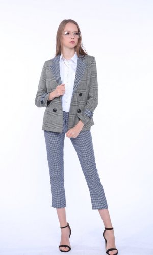Plover Checked Blazer