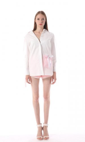 Pink Pocket Oversized Shirt