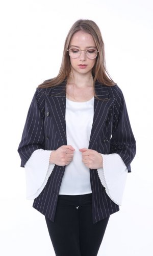 Navy Blue Layered Blazer