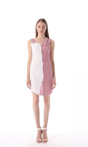 Red Striped Summer Dress
