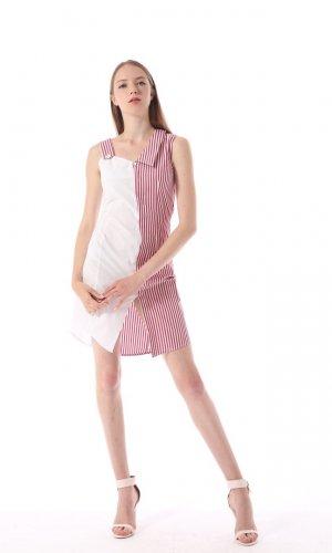 Red Striped Summer Dress