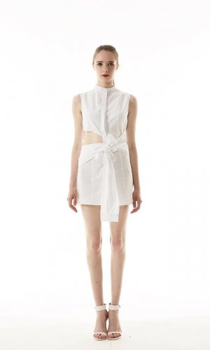Dylan Asymmetric Shirt Dress
