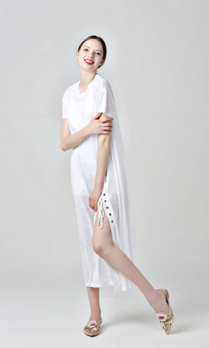White Draping Dress