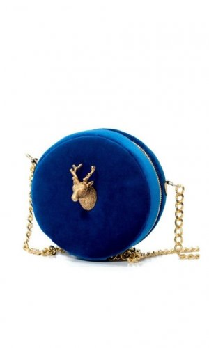 Ciervo Blue Velvet Bag