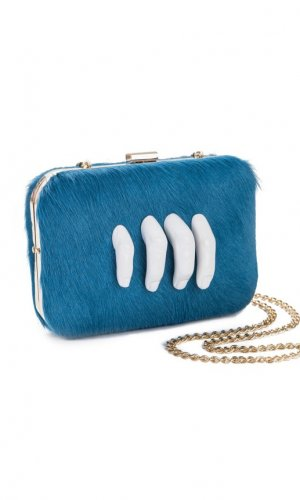 Mano Blue Clutch Bag