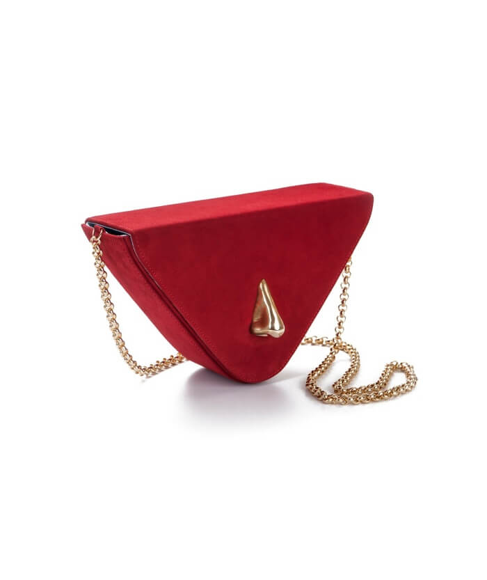Nariz Red Suede Bag