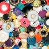 Botones Vintage Button Clutch Bag