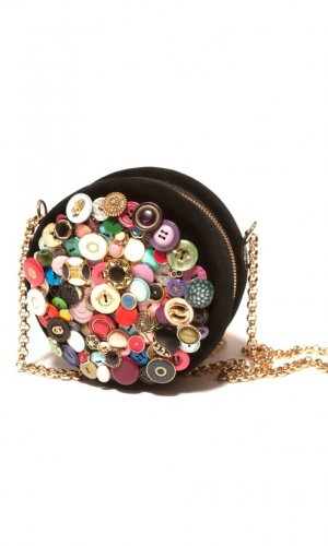 Botones Vintage Button Clutch Bag