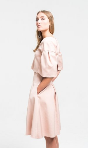 Lana Pink Satin Co-Ord Set