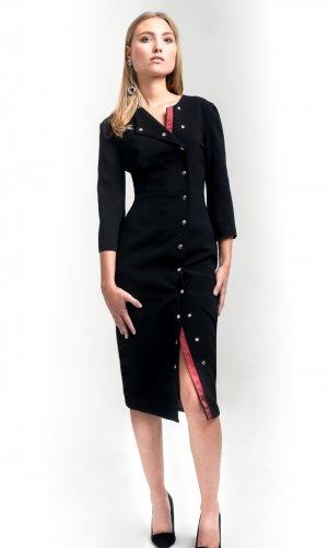 Cynthia Buttoned Bodycon Dress