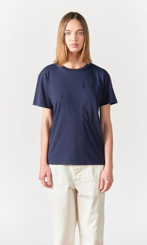 Aron Blue Boxy Loose T-Shirt