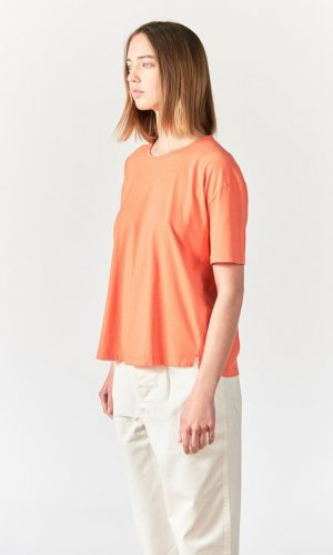 Re.sustain Aron Red Boxy Loose T-Shirt
