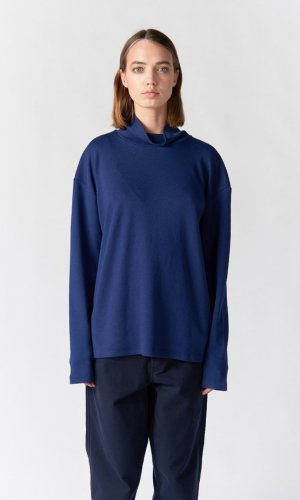 Korey Long Sleeve Blue Turtleneck