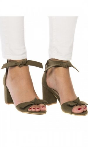 Estela Vegan Green Sandals