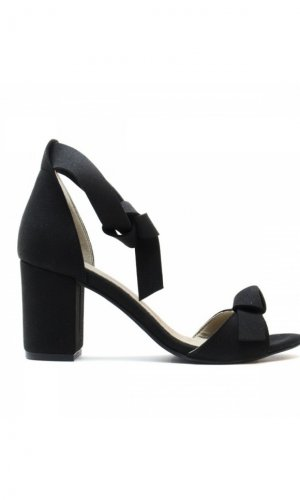 Estela Vegan Black Sandals