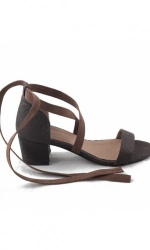Clau Brown Strappy Sandals