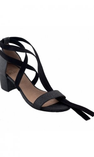 Clau Black Strappy Sandals