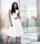 Lilah White Midi Dress