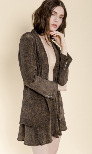 Alani Printed Silk Jacket