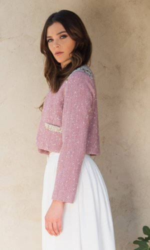 Alexa Pink Tweed Jacket