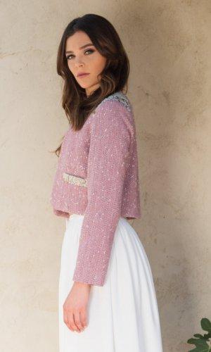 Alexa Pink Tweed Jacket