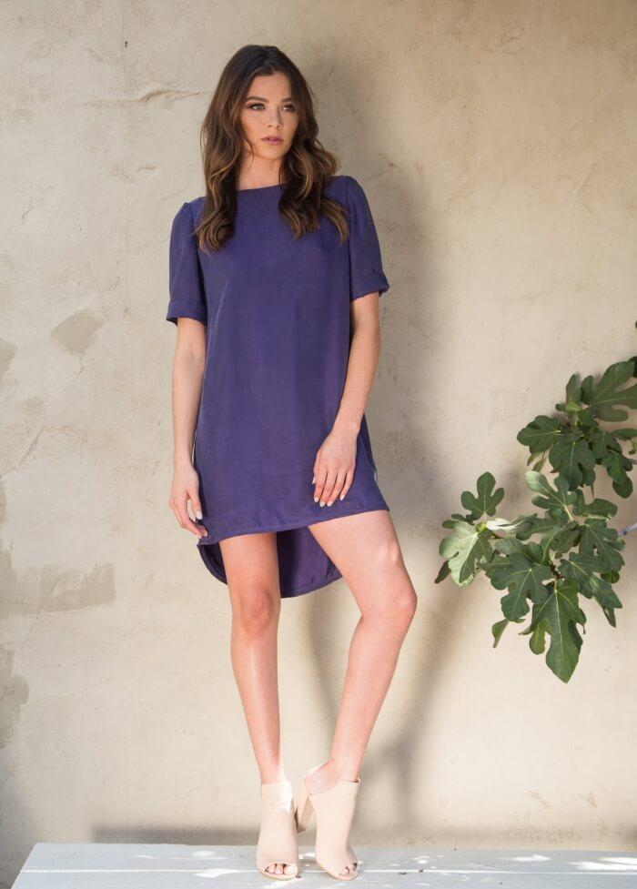 Ana Blue Shift Dress