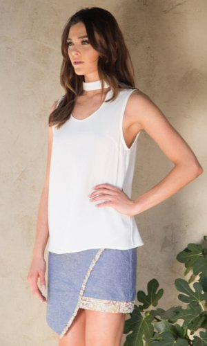 Juliana Sheer Chiffon Blouse