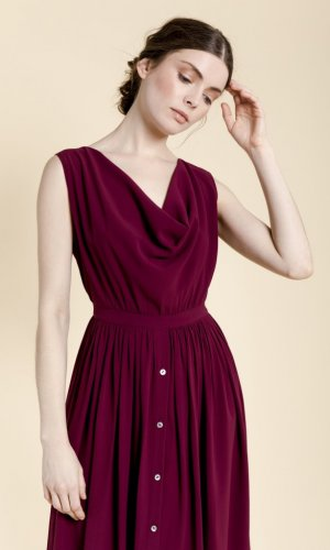 Kala Burgundy Dress