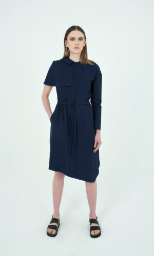 Rina Asymmetric Day Dress