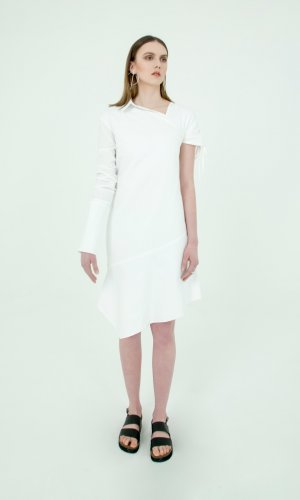 Eira Asymmetric White Dress