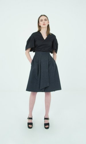 Enna Wrap Midi Skirt