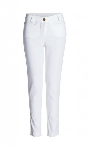 Stretch White Trousers