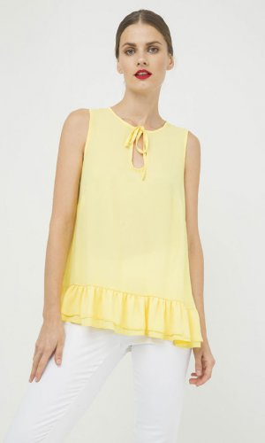 Double Frill Detail Top