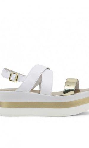 Ana Lublin Gold Flatforms