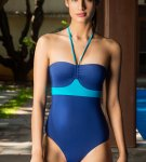 Colorblock Halter One Piece