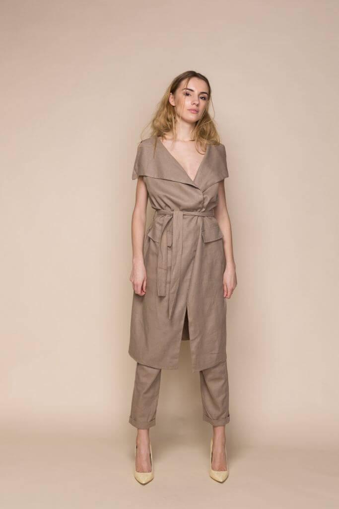 Bown Linen Vest and Trousers Set