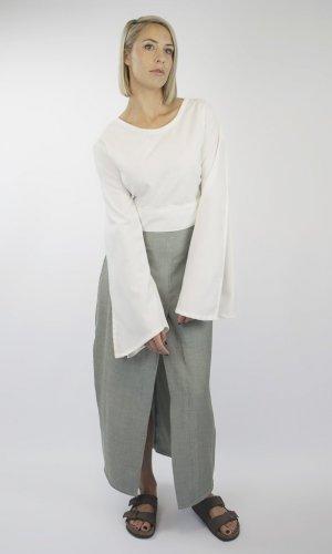 Betty Green Check Split Front Skirt