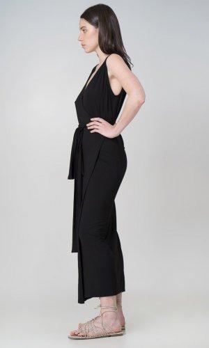 Aja Black Wrap Dress