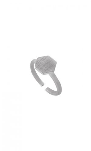 Flat Hexagon Ring
