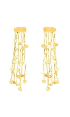 Scattered Stars Gold Tassel Earrings