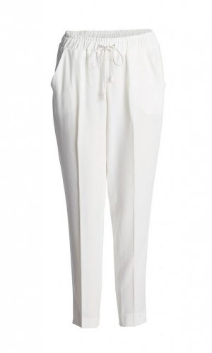 Off- White Trousers with Tie