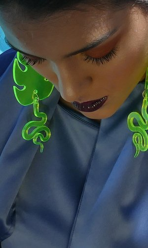 Neon Cobras Statement Earring