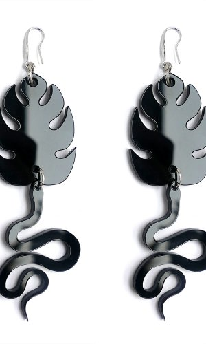 Black Cobras Statement Earring