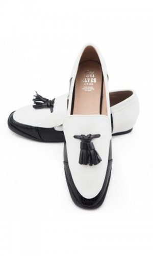 Whitney Black and White Loafer