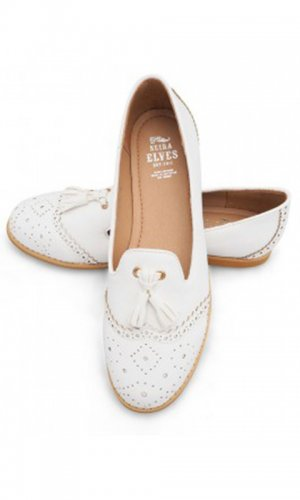 Dorothy White Tassel Loafer