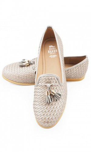 Heather Woven Leather Loafer