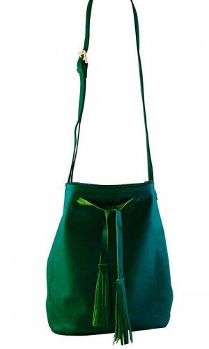 Leafy Green Bucket Bag