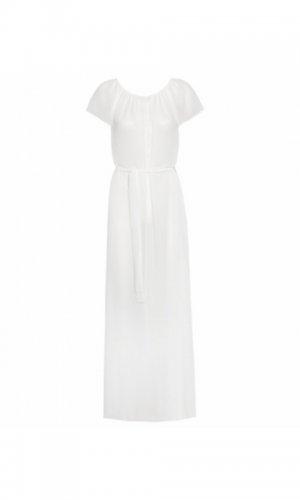 White maxi dress off model